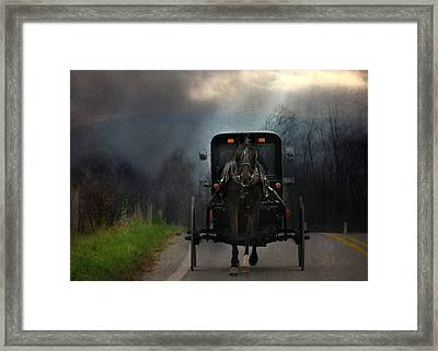 The Road Less Traveled Framed Print by Lori Deiter