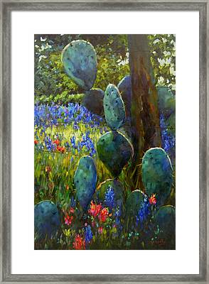 Framed Print featuring the painting The Road Less Travelled by Chris Brandley