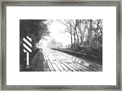 The Road Less Travelled - Country Bridge Framed Print by Virginia Halford
