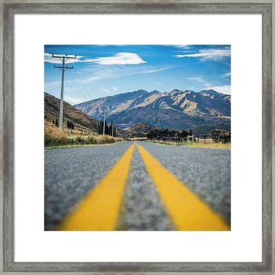 The Road Less Travelled  Framed Print by Nathan Beddows