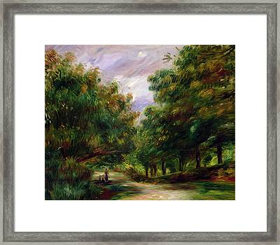 The Road Near Cagnes Framed Print by Pierre Auguste Renoir