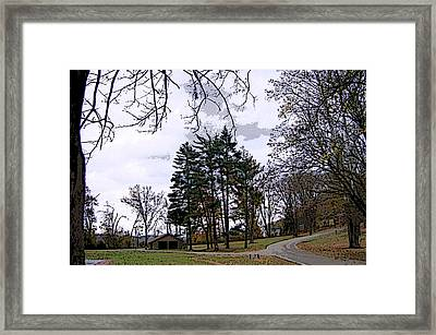 Framed Print featuring the photograph The Road Not Taken by Skyler Tipton