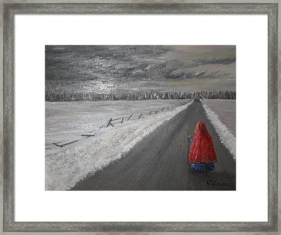 The Road That Must Be Traveled Framed Print by L A Raven