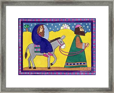 The Road To Bethlehem Framed Print by Cathy Baxter