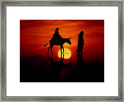 Framed Print featuring the painting The Road To Bethlehem by Valerie Anne Kelly