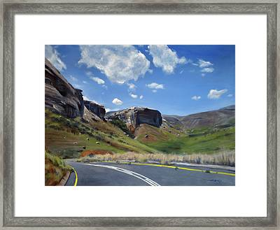The Road To Clarens Framed Print by Christopher Reid