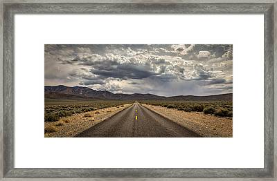 The Road To Death Valley Framed Print by Peter Tellone