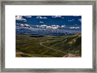 The Road To Denali Framed Print by Dennis Wagner