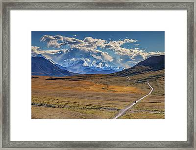 The Road To Denali Framed Print by Rick Berk