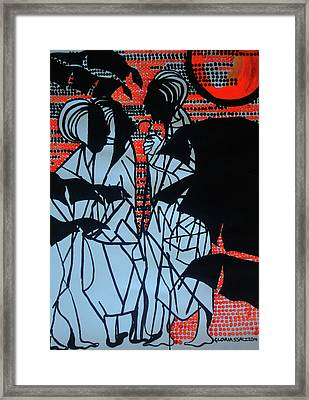 The Road To Emmaus Framed Print by Gloria Ssali