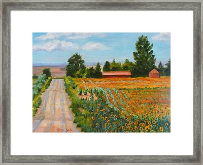 The Road To Happiness Framed Print