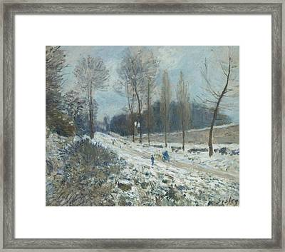 The Road To Louveciennes Framed Print