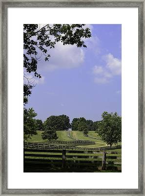 The Road To Lynchburg From Appomattox Virginia Framed Print by Teresa Mucha