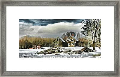The Road To Mariaville Framed Print