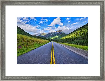 Framed Print featuring the photograph The Road To Maroon Lake by Photography By Sai
