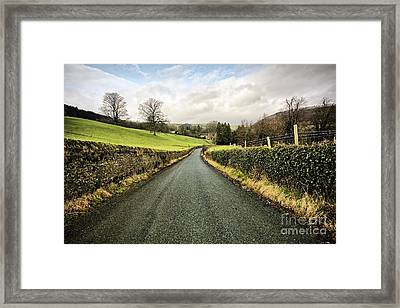 The Road To Marrick Framed Print by Nichola Denny