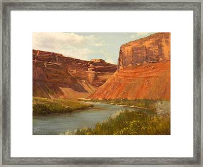The Road To Moab Framed Print