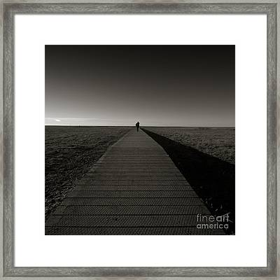 The Road To Nowhere Framed Print by Angel Ciesniarska