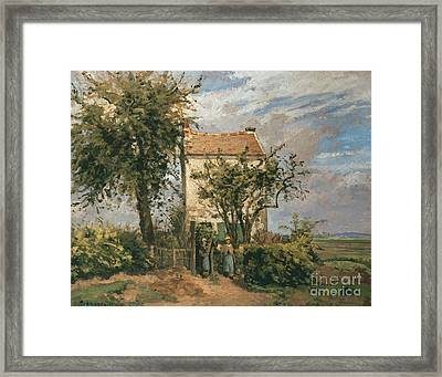 The Road To Rueil Framed Print by Camille Pissarro