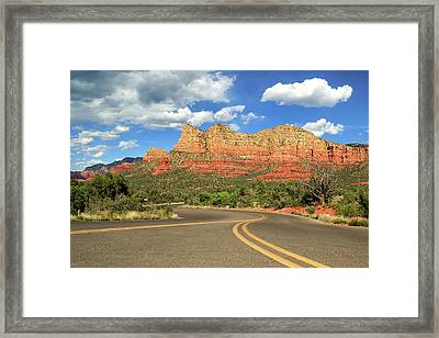 The Road To Sedona Framed Print