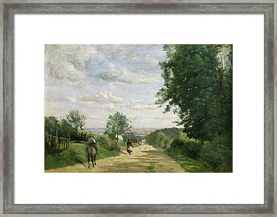 The Road To Sevres Framed Print by Jean Baptiste Camille Corot