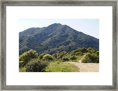 The Road To Tamalpais Framed Print by Ben Upham III