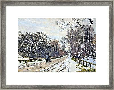 The Road To The Farm Of St. Simeon Framed Print