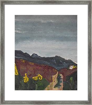 The Road To The Mountain Framed Print by Francois Fournier