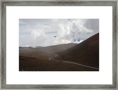 Framed Print featuring the photograph The Road To The Snow Goddess by Ryan Manuel