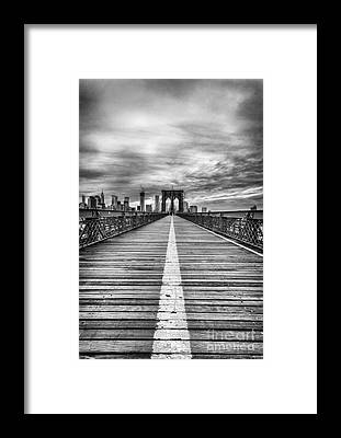Brooklyn Bridge Framed Prints