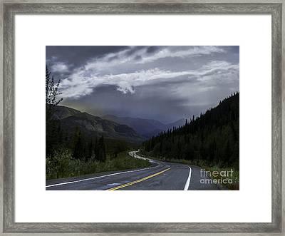 The Road To Valdez Alaska Framed Print