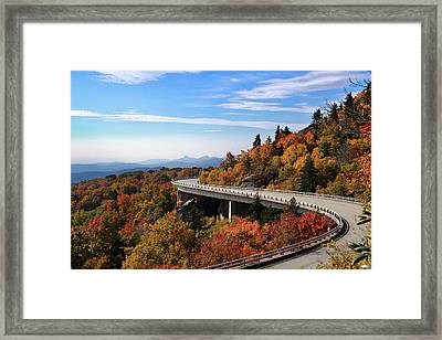 The Road To Winter Framed Print