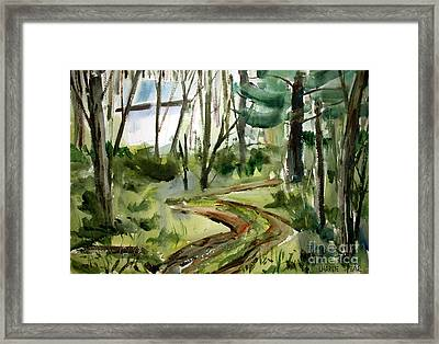 The Road Up Matted Glassed Framed Framed Print by Charlie Spear