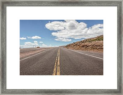 The Road Up Pikes Peak At Around 12,000 Feet Framed Print by Peter Ciro