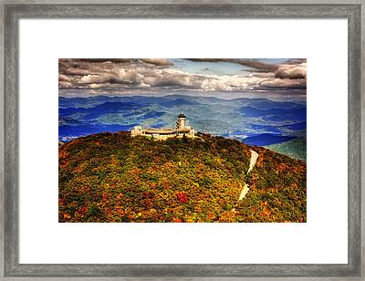 The Road Up To Brasstown Bald Framed Print