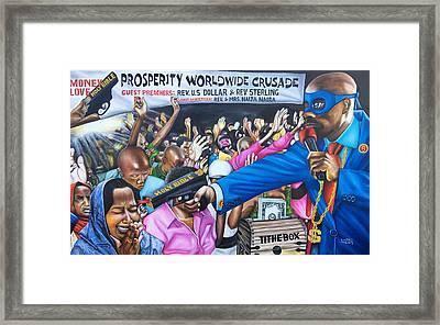 The Robbery Revival Matthew21vs13 Framed Print
