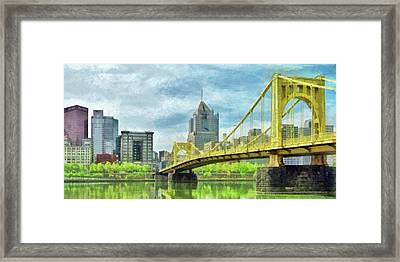 The Roberto Clemente Bridge In Pittsburgh Framed Print