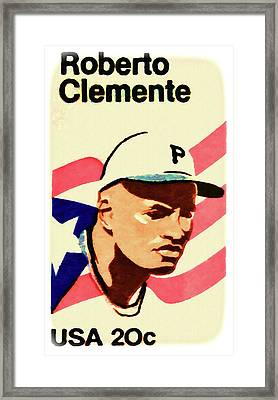 The Roberto Clemente  Framed Print by Lanjee Chee