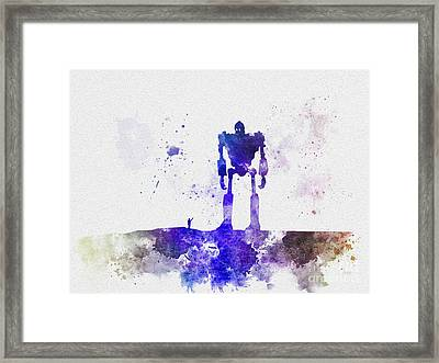 The Robot Who Fell From Space Framed Print