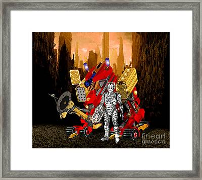 The Robot's Deadly Weapon Framed Print