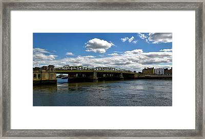 The Rochester Bridge Over The River Medway  Framed Print by Barry Marsh