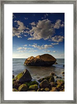 The Rock At Horton Point Framed Print by Rick Berk