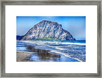 The Rock At Morro Bay Large Canvas Art, Canvas Print, Large Art, Large Wall Decor, Home Decor, Photo Framed Print