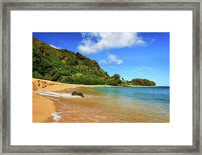The Rock At Tunnels Beach Framed Print by James Eddy