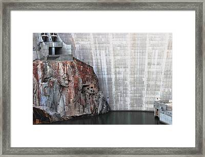The Rock Behind The Dam Framed Print by Natalie Ortiz