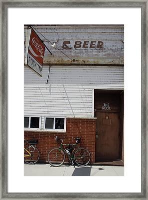 The Rock Bike Framed Print
