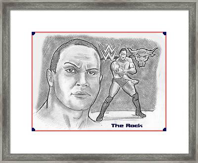 The Rock Framed Print by Chris  DelVecchio