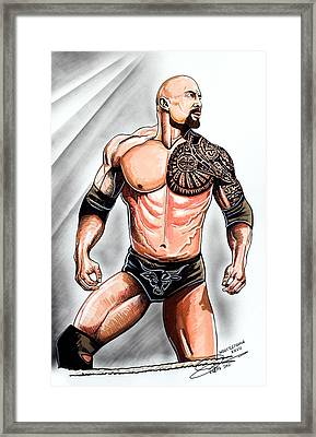 The Rock Framed Print by Dave Olsen