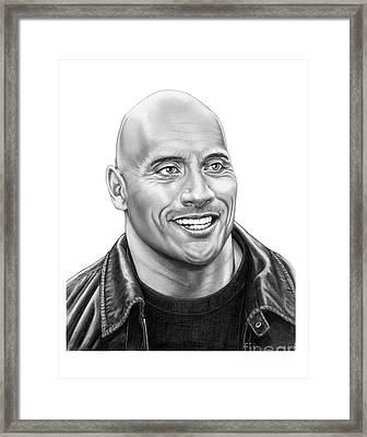 The Rock-dwayne Johnson Framed Print by Murphy Elliott