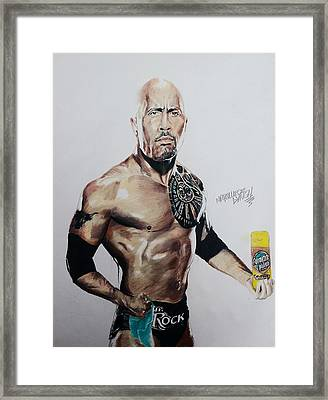 The Rock Getting Ready To Shine Something Framed Print by Marquiece Lynch